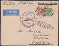 1928 GEORGE V AIR POST OFFICE OVERNIGHT SERVICE COVER LONDON TO STOCKHOLM