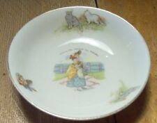 """Antique? Porcelain Bowl B&S Austria """"This Is The Maiden All Forlorn"""" 5.2"""" Wide"""
