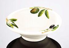 """BASSANO rundes Oliven Keramik Schälchen """"Venezia"""" italienische Keramik 15,5 x4,5"""