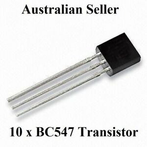 BC547 Transistor -(TO92) x 10 Pieces