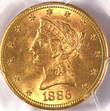 1886-S $10 MS62 PCGS/CAC- ONLY 410 IN HIGHER GRADES-LIBERTY HEAD EAGLE
