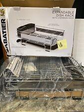 "Sabatier Expandable Dish Rack with Stemware Rack Rust-Resistant 26.4""- 36.7"" (b)"