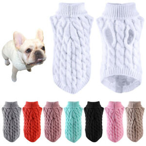 Small Pet Mini Clothes Winter Sweater Warm Costume Dogs Sweater Jumper Knitwear