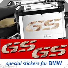 2 Adesivi CAMO DESERT Moto BMW R 1200 1150 1100 800 650 gs valigie adventure