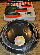 BRAND NEW SEALED PREMIUM QUALITY 3 PIECE COLORED NON-STICK PAN SET FREESHIPPING