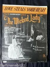 ORIGINAL SHEET MUSIC - LOVE STEALS YOUR HEART from THE WICKED LADY