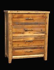 Western 4 Drawer Dresser - Country Rustic Cabin Log Wood Bedroom Furniture Decor
