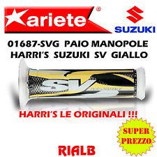 Coppia / Paio Manopole HARRI'S SUZUKI SV GIALLO ORIGINALI ARIETE 01687-SVG