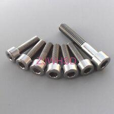 7pcs Ti Titanium Bolt Screw Kit M5 M6 Square Set for Headset Cap Stem FSA Easton