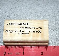 Best Friend is someone brings Rubber Stamp Friendship by Stampin Up Full of Life