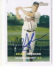 KELLY JOHNSON 2006 TOPPS HERITAGE # 462   AUTOGRAPHED CARD . BRAVES