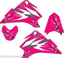 Girls Yamaha TTR 50 Graphics Decal Sticker Kit TTR50 Pink Flower 2006-2012