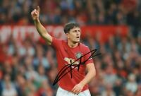 """ORIGINAL Harry McGuire Autographed Manchester United Signed 12"""" x 8"""" photo"""