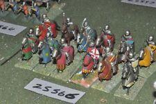 25 mm Caballeros Medievales/inglés - 12 figuras-CAV (25566)