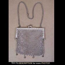 Antique Art Nouveau German Silver Mesh Purse
