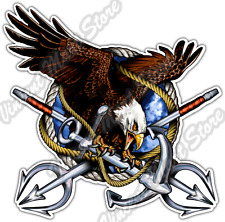 Eagle Trident US Army Navy Military Anchor Car Bumper Vinyl Sticker Decal 4.6""