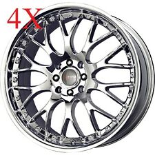 Drag Wheels Dr-19 17x7.5 5x108-115 et42 Virtual Chrome Rims For gm ThunderBird