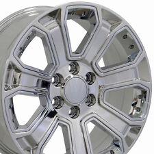"20"" Wheels For Chevrolet Silverado 1500 Suburban C2500 Sierra Tahoe Chrome Rims"