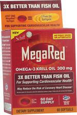 MegaRed OMEGA 3 Olio di Krill, Schiff vitamine, 60 Capsule 300 MG