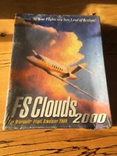 NEW Sealed FS CLOUDS 2000 / FLIGHT SIMULATOR EXPANSION PC BIG BOX Squashed Box