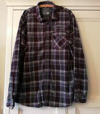 Man's TOM TAILOR LONG SLEEVE SHIRT - Size XXL (2XL) - Purple Check