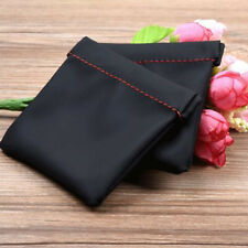 Soft PU Leather Replacement Carrying Pouch Case Bag For Earphone Headphone Black