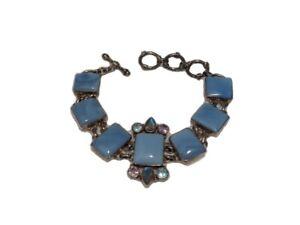 Sterling Silver Chalcedony Bracelet - Light Blue Gemstone Bracelet
