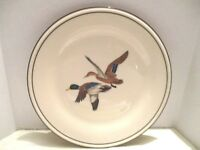 "Lenox Special Mallard Ducks in Flight 8-1/8"" W White Porcelain Round Salad Plate"