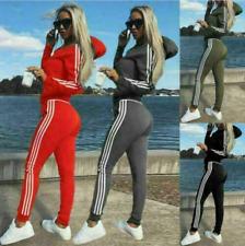 Damen Sweatshirt Jogginganzug Trainingsanzug Hausanzug Hoodie Sport Hose Fitness