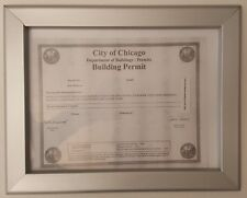 CITY OF CHICAGO BUILDING PERMIT FRAME 8.5 x 11 ( Heavy Duty)-Ref-AM