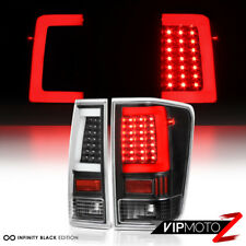 """LATEST DESIGN"" 3D OLED STRIP Black LED Tail Lights FOR 2004-2015 Nissan Titan"