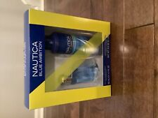 NEW NAUTICA BLUE AMBITION COLOGNE SPRAY1.7oz & BODY SPRAY  6.0oz gift set