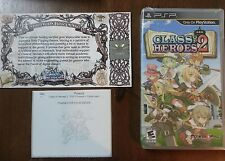 Class of Heroes 2 + Certificate + Printed Art (Sony PSP, 2013) NEW SEALED