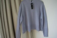 AUTOGRAPH MARKS & SPENCER LUXURY Blue WOOL CASHMERE Mix JUMPER SIZE 20 NEW