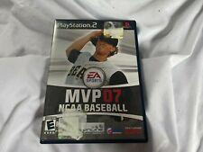 MVP 07 NCAA Baseball PS2 Sony PlayStation 2 Tested Working College EA