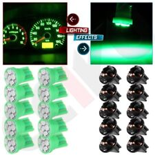 10 Pack Green PC194 T10 Instrument LED 6-SMD Cluster Light Bulbs Dash Twist Lock