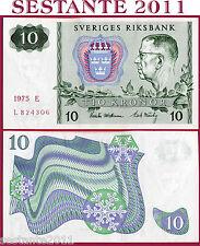 SWEDEN   SVEZIA   -   10 KRONOR 1975  -   P 52c   -   FDS / UNC