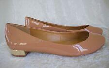J.Crew Lily Metallic-Heel Patent Ballet Flats f8218 Size 9