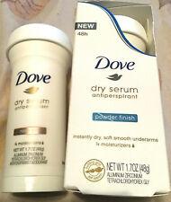 Dove Dry Serum Antiperspirant POWDER FINISH 1.7 Oz NEW! Lot of 2! Rose Silk