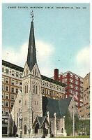 CHRIST CHURCH MONUMENT CIRCLE Downtown INDIANAPOLIS INDIANA POSTCARD