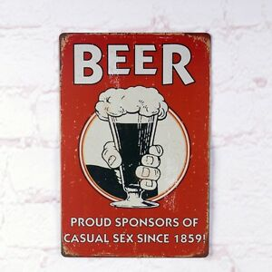 Antique Beer Vintage Metal Tin Sign Bar Home Pub Wall Decoration