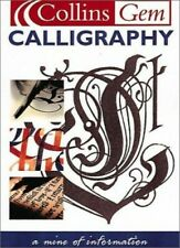 Collins Gem Calligraphy by Diagram Group Paperback Book The Cheap Fast Free Post