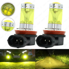 2x H11 H8 H9 80W CREE LED Fog Driving Light Bulbs 4300k Yellow DRL 12SMD Lamp
