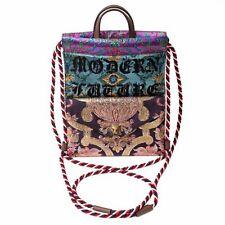 New Gucci Modern Future Small Brocade Drawstring Backpack Bag Multicolor Blue