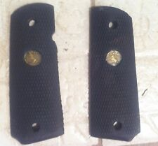 Colt 1911 Medallion Grips Black Rubber Combat Factory NonSlip Grip Used Tactical