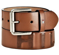 Tommy Hilfiger Men's Premium 38MM Classic Raised Logo Leather Belt