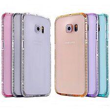 Schutz Hülle Strass Diamant für Samsung Galaxy iPhone Silikon Tasche Case Cover*