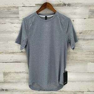 NWT Lululemon Mens Chambray/White DrySense Short Sleeve Active Tee T-Shirt