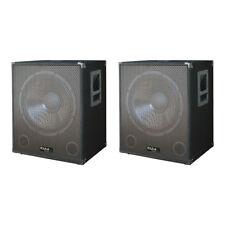 2x Ibiza Sound SUB18A 2400W SUBWOOFER AMPLIFICATO BASS Bin DA DISCOTECA DJ ALTOPARLANTI PA