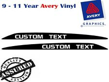 CUSTOM TEXT Decal Sticker for Toyota Landcruiser 76 70 78 79 Series Bonnet scoop